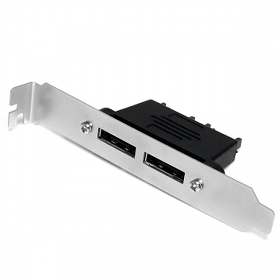 Serial ATA StarTech.com Adaptateur de plaque 2ports SATA / eSATA - F/M