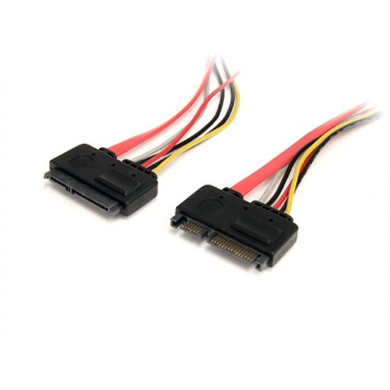 Serial ATA StarTech.com Câble SATA données et alimentation (M/F)- 30 cm
