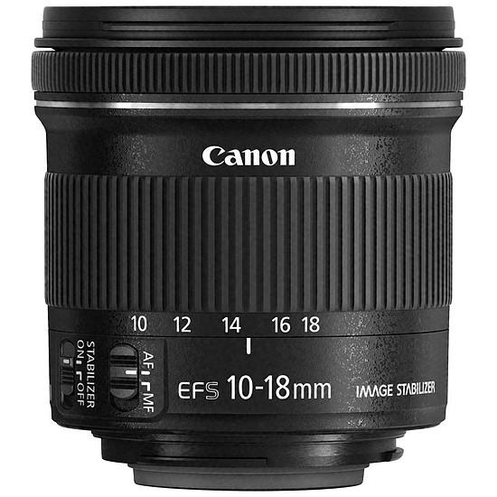 Objectif pour appareil photo Canon EF-S 10-18mm f/4.5-5.6 IS STM
