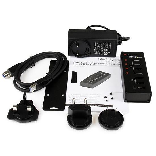 USB StarTech.com Concentrateur 4 USB 3.0  et 3 ports USB recharge - Autre vue