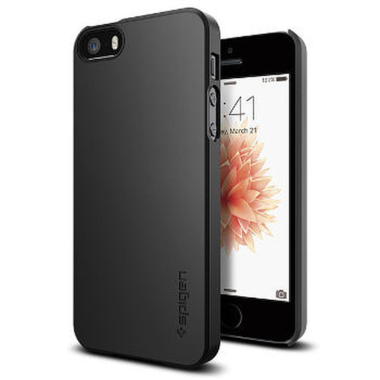 Coque et housse Spigen Coque Thin Fit (noir) - iPhone SE