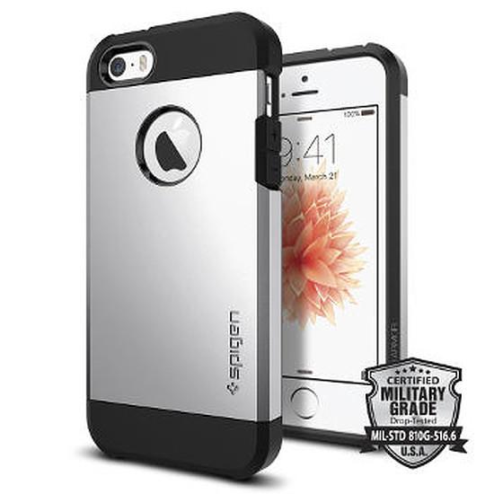 Coque et housse Spigen Coque Tough Armor (silver) - iPhone SE