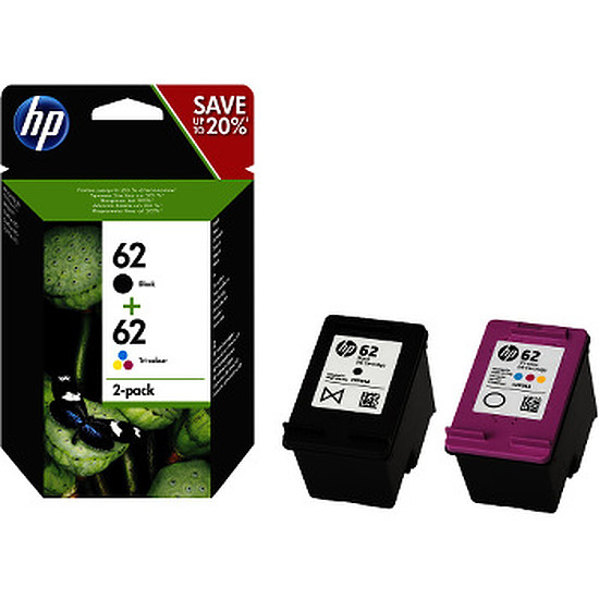 Cartouche imprimante HP Combo Pack n°62 (N9J71AE) - 2 cartouches