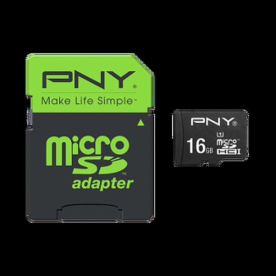 Carte mémoire PNY High Performance micro SDHC 16Go (80Mo/s)