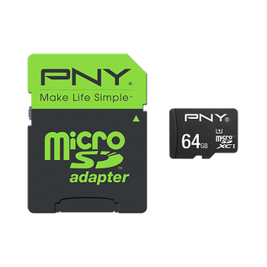 Carte mémoire PNY High Performance microSDHC 64Go (80Mo/s)