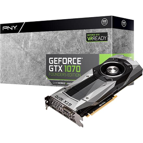Carte graphique PNY GeForce GTX 1070 Founders Edition - 8 Go