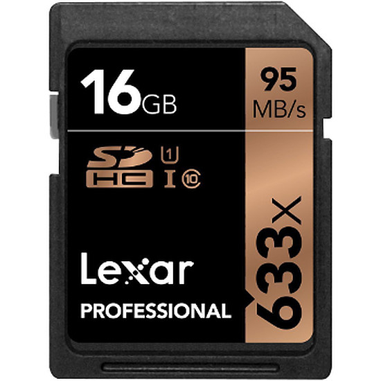 Carte mémoire Lexar Professional SDHC 16 Go 633x (95Mo/s)