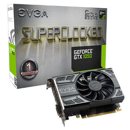 Carte graphique EVGA GeForce GTX 1050 SC Gaming - 2 Go