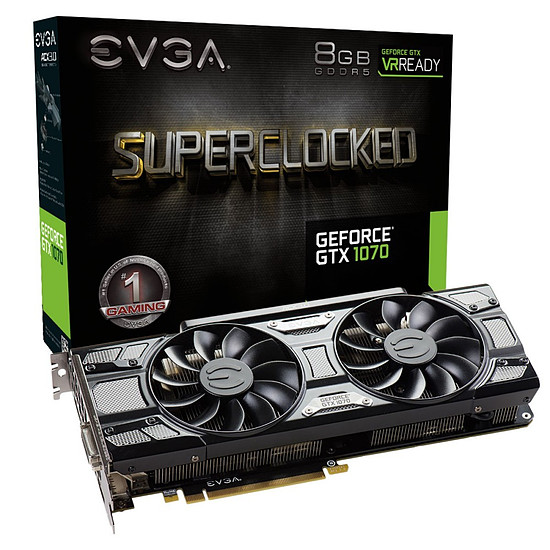 Carte graphique EVGA GeForce GTX 1070 SC Gaming Black Edition - 8 Go