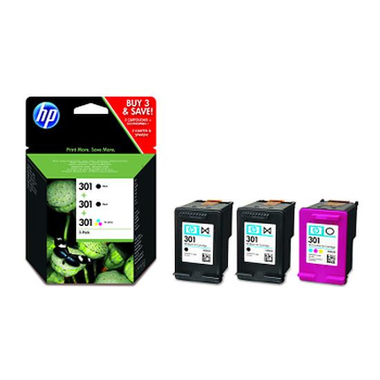 Cartouche imprimante HP Pack de 3 cartouches d'encre HP n°301