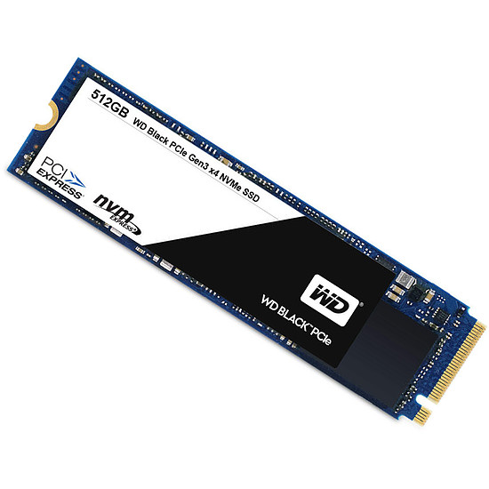 Disque SSD Western Digital (WD) Black PCIe NVMe M.2 2280 - 256 Go