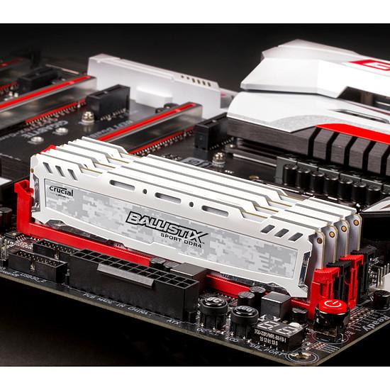 Mémoire Ballistix Sport LT White DDR4 4 Go 2666 MHz CAS 16 SR - Autre vue