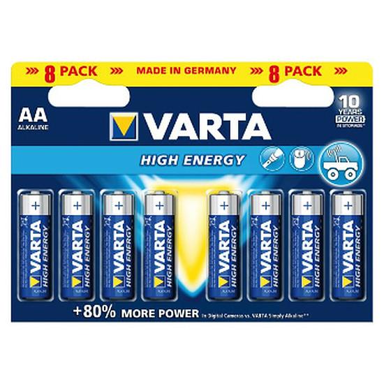 Pile et chargeur Varta Piles Alcaline High Energy AA LR06 (par 8)