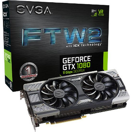 Carte graphique EVGA GeForce GTX 1080 FTW2 Gaming ICX - 8 Go