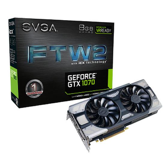 Carte graphique EVGA GeForce GTX 1070 FTW2 Gaming iCX - 8 Go
