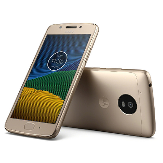 Smartphone et téléphone mobile Lenovo Moto G5 (or)