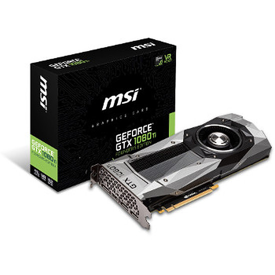 Carte graphique MSI GeForce GTX 1080 Ti Founders Edition - 11 Go