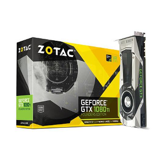 Carte graphique Zotac GeForce GTX 1080 Ti Founders Edition - 11 Go