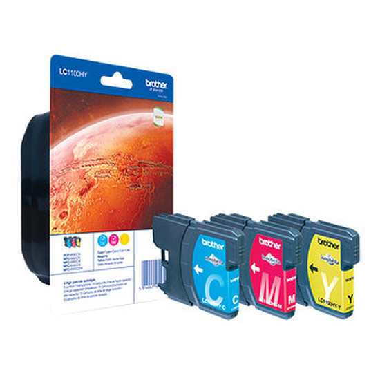 Cartouche imprimante Brother LC1100HYC/M/Y -  Pack de 3 couleurs haute capacité