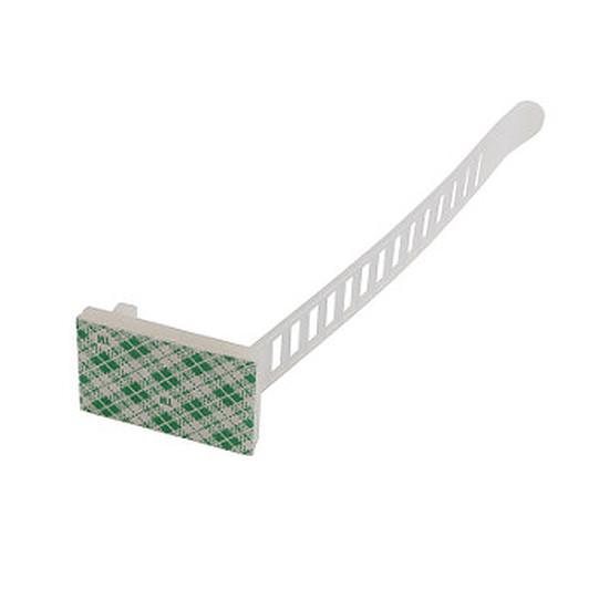 Passe câble et serre câble  Serre câble réglable 94 mm autocollant  - pack 10