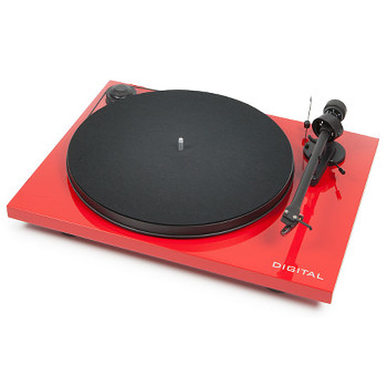 Platine Vinyles Pro-ject Essential II Digital Rouge