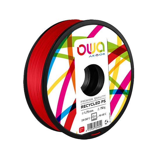 Filament 3D Owa Filament PS recyclé - Rouge 1.75 mm  - Autre vue