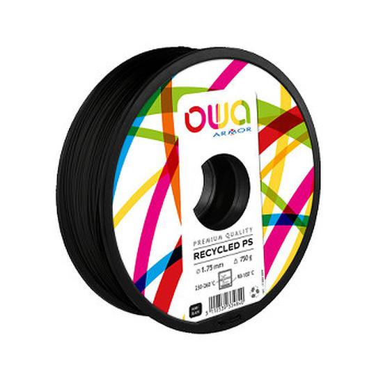 Filament 3D Owa Filament PS recyclé - Noir 1.75 mm