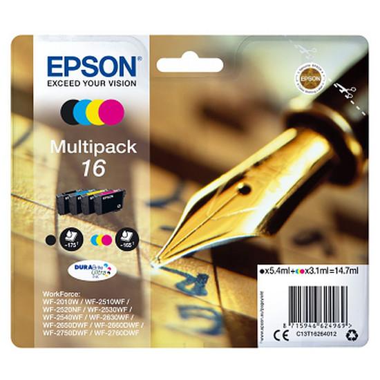 """Cartouche imprimante Epson Multipack 16 XL (BK/C/M/J) """"Stylo à plume"""""""