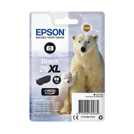 Cartouche imprimante Epson 26XL Noir Photo - C13T26314012