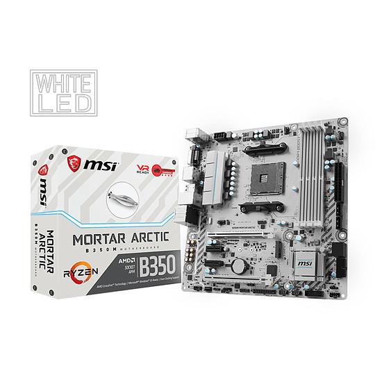 Carte mère MSI B350M MORTAR ARCTIC