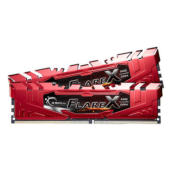 Mémoire G.Skill Flare X Red DDR4 4 x 16 Go 2400 MHz CAS 15