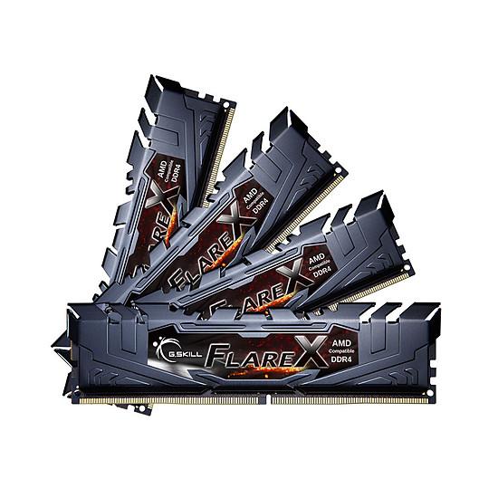 Mémoire G.Skill Flare X Black DDR4 4 x 8 Go 2400 MHz CAS 16