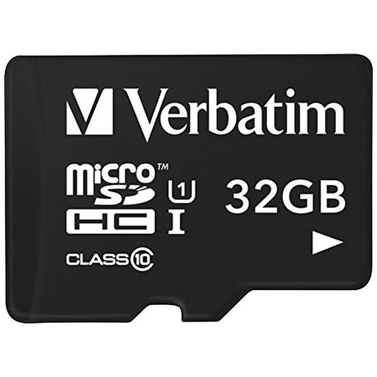 Carte mémoire Verbatim Micro SDHC 32 Go (classe 10)