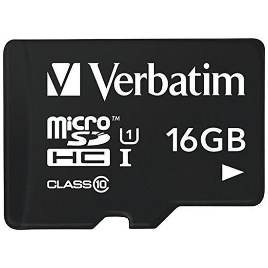 Carte mémoire Verbatim Micro SDHC 16 Go (classe 10)