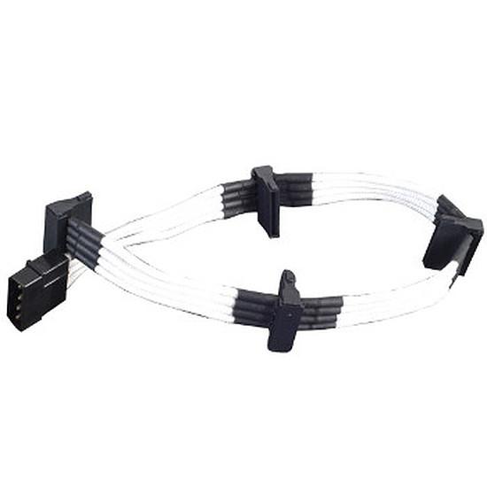 Alimentation Silverstone Câble 4 SATA / Molex 30 cm - Blanc