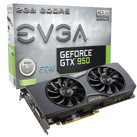 Carte graphique EVGA GeForce GTX 950 FTW Gaming - 2 Go