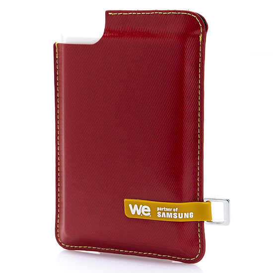 Disque dur externe WE by Samsung - SSD externe 120 Go USB 3.0 - Rouge - Autre vue