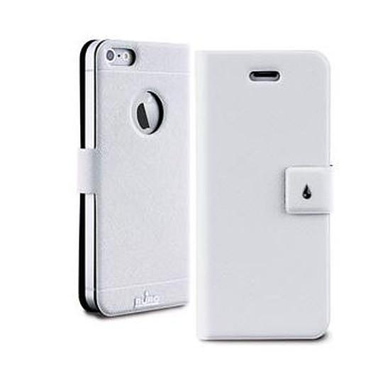 Coque et housse Puro Etui Folio (blanc) - iPhone SE/5/5s
