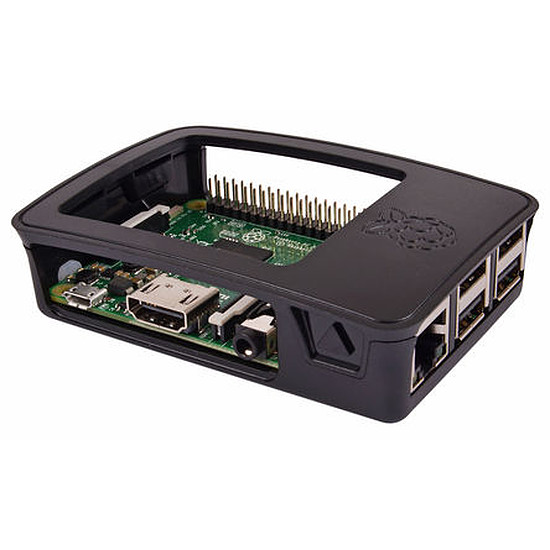 Raspberry Pi Raspberry Pi Boitier officiel Raspberry Pi 2 B et Pi 3 B - Autre vue
