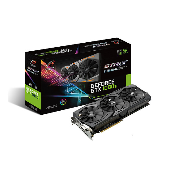 Carte graphique Asus GeForce GTX 1080 Ti ROG STRIX - 11 Go