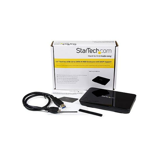 """Boîtier pour disque dur StarTech.com Boitier externe USB 3.0 pour HDD/SSD SATA de 2,5"""" - Autre vue"""
