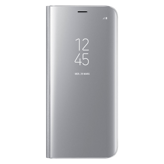 Coque et housse Samsung Clear view cover (argent) - Samsung Galaxy S8+