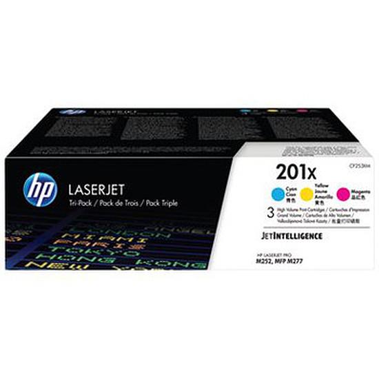 Toner imprimante HP Pack de 3 toners d'encre n°201X (CF253XM)