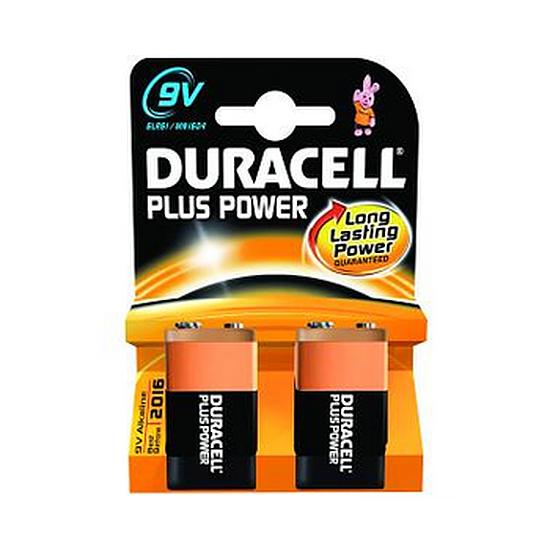 Pile et chargeur Duracell Piles Alcaline Plus Power 9V 6LR61 (par 2)