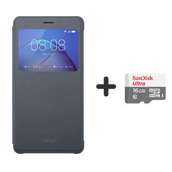 Coque et housse Honor Flip cover (gris) Honor 6X Pro + Micro SD 16Go