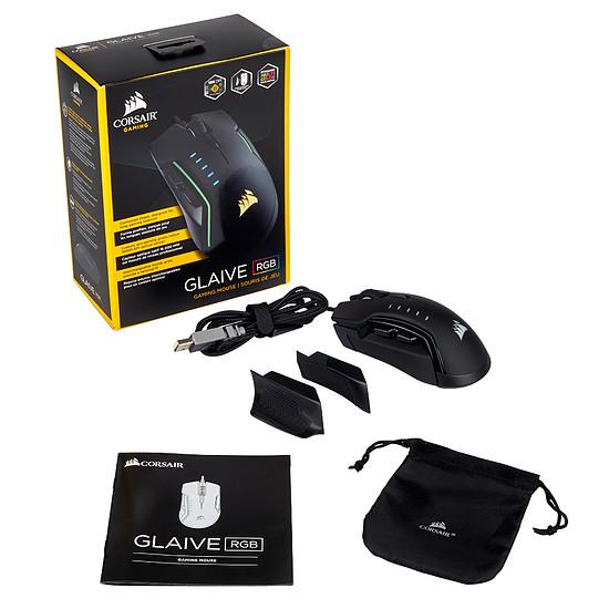 Souris PC Corsair Glaive RGB - Noir - Autre vue