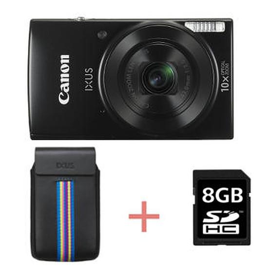 Appareil photo compact ou bridge Canon Ixus 185 Noir + Etui + carte SD 8 Go