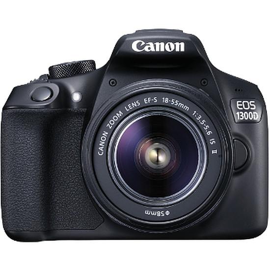 Appareil photo Reflex Canon EOS 1300D + 18-55 IS + Sacoche + SD 8 Go + Trépied