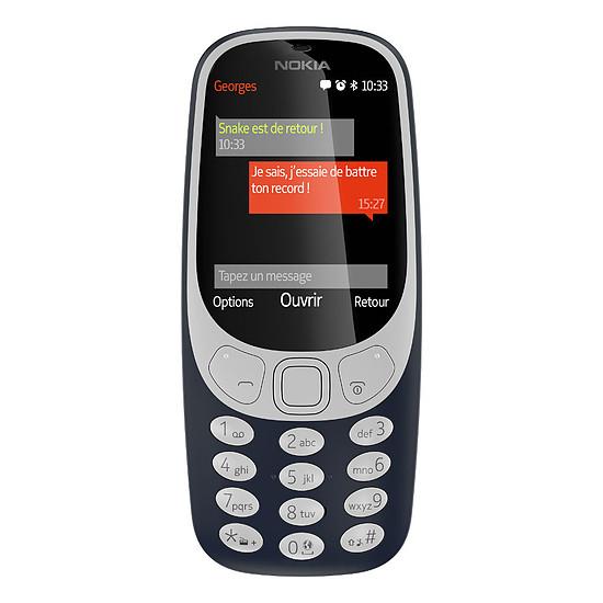 Smartphone et téléphone mobile Nokia 3310 - Double SIM (bleu)