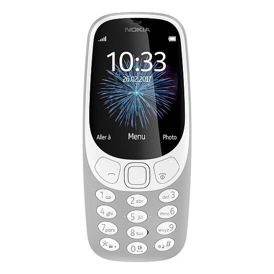 Smartphone et téléphone mobile Nokia 3310 - Double SIM (gris)